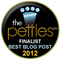 Petties 2012 finalist best blog post badge