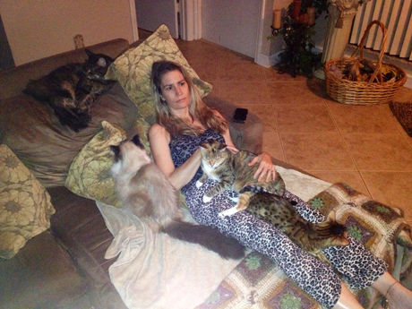 deb and cats