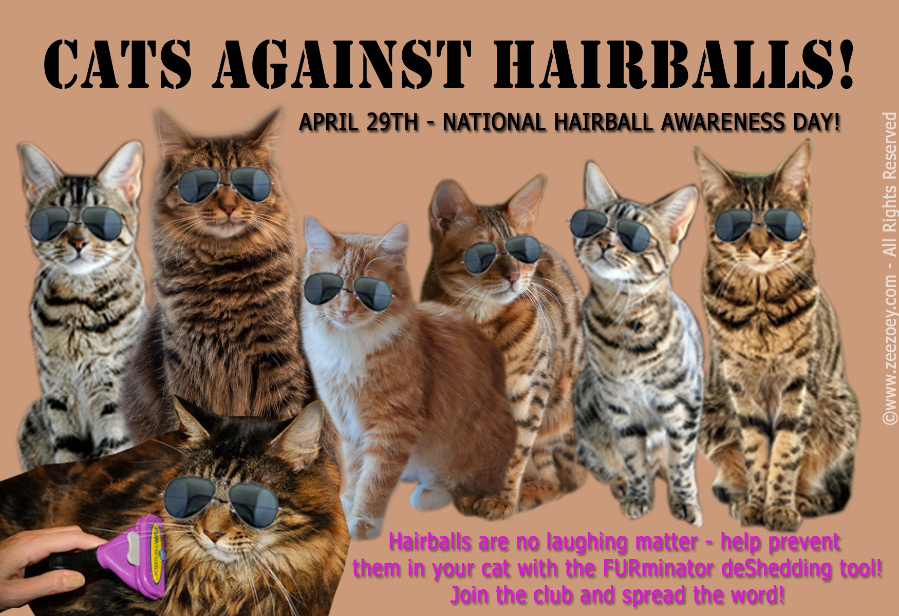 Hairballs in cats can be a sign of something dangerous. Regular grooming with the FURminator deShedding tool helps to eliminate hairballs