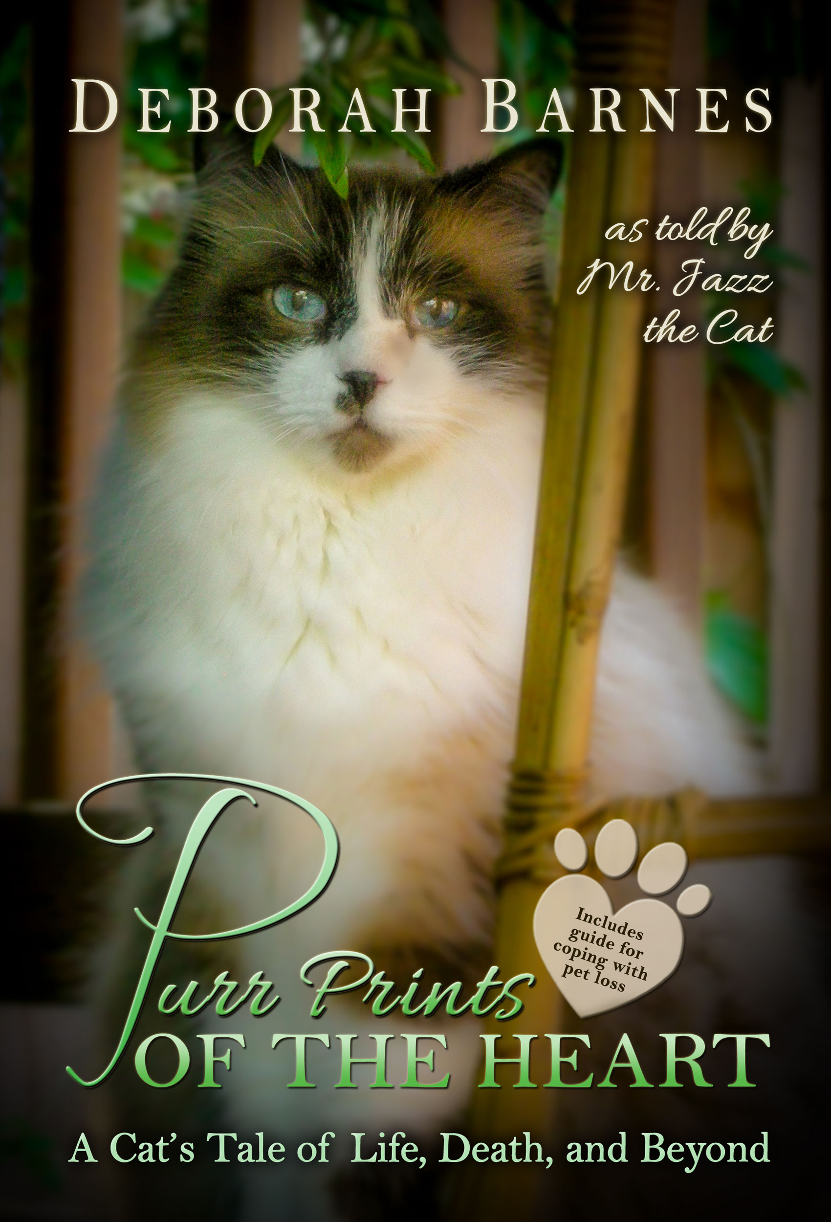 Purr Prints of the Heart is a book to help people with pet loss and grieving as written as a meow memoir